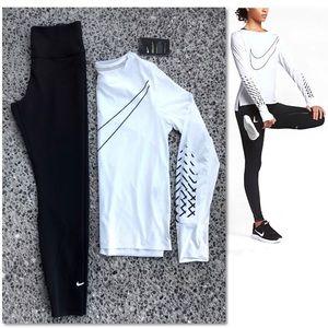 Nike Bundle - Breathe Running Shirt, Tights